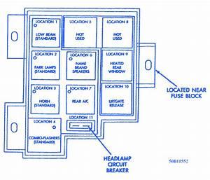 Chrysler Minivan 1995 Headlamp Fuse Box  Block Circuit Breaker Diagram