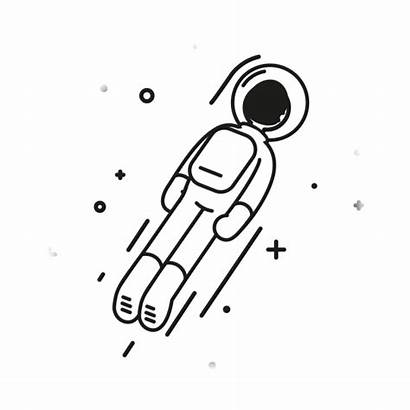 Animation Motion Astronaut Space Animated 2d Drawing