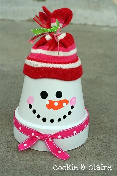 cute christmas crafts pinterest decor idea radom crafts crafts clay pots and snowman
