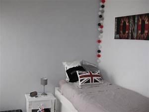 Chambre Gris Blanc : chambre ado style british 5 photos rocad ~ Melissatoandfro.com Idées de Décoration