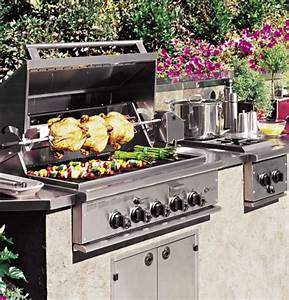 Ge Monogram U00ae 36 U0026quot  Outdoor Cooking Center With 3 Grill