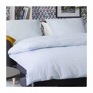 Housse De Couette En Lin : linen ii housse de couette 200x200cm en lin bleu clair ~ Melissatoandfro.com Idées de Décoration