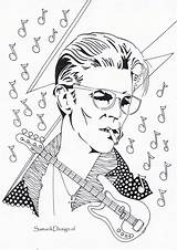 Coloring Pages Famous Adult Bowie David Print Colouring Celebrities Books Celebs Printable Sheets Paper Lovely Drawings Walmart sketch template