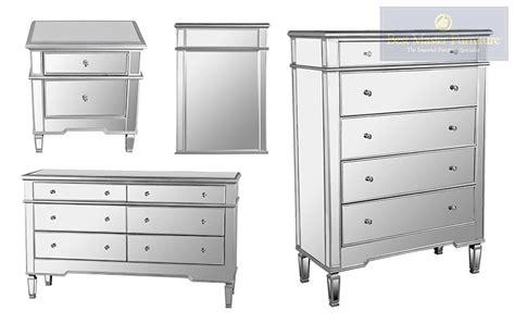 hayworth mirrored 3 drawer dresser hayworth mirrored 5 drawer chest