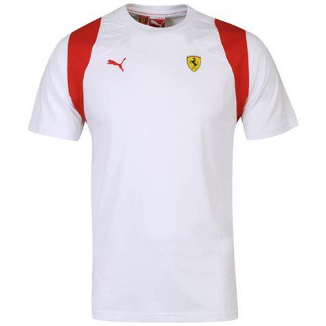 ferrari clothing puma men 39 s ferrari t shirt white clothing thehut com