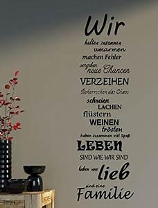 Wandtattoo Sprüche Familie : wandtattoo spruch familie family wir haus liebe spr che spruch b387 schwarz texte ~ Frokenaadalensverden.com Haus und Dekorationen