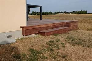 pose d39une terrasse en padouk a orleans loire eco bois With pose d une terrasse en bois