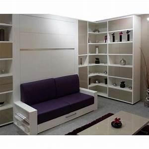 armoire lit escamotable avec canape integre au meilleur With tapis couloir avec petit canapé lit 1 place