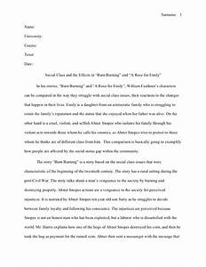 Essay On A Rose For Emily By William Faulkner Professional Report  Analysis On A Rose For Emily By William Faulkner Online Writing Help For College Students also Example Of Proposal Essay  English Composition Essay Examples