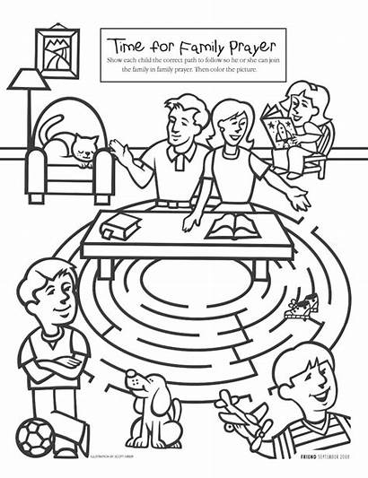 Prayer Lds Primary Activity Coloring Clipart Missionary