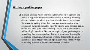 writing position papers writing position papers format writing