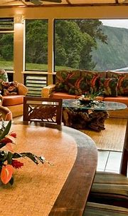 Koa wood and rattan furniture | Hawaiian home decor ...