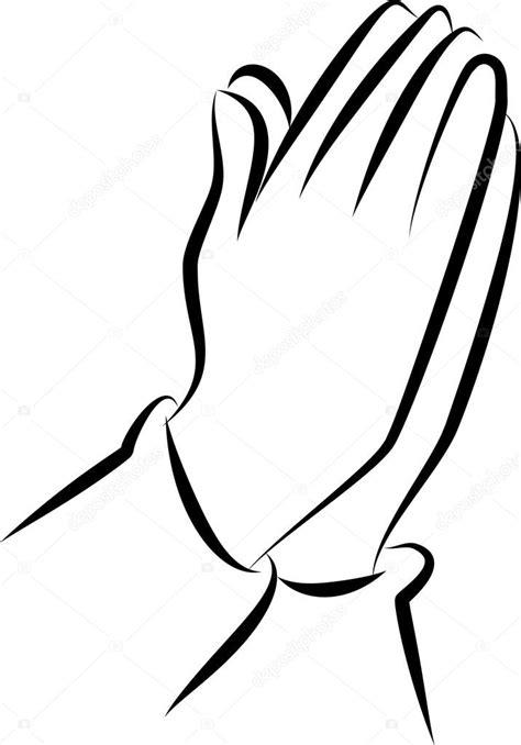 Biddende Handen Kleurplaat by Tekening Biddende Handen Stockvector 169 Prawny 64292561