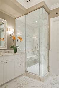 Sleek, Marble, And, Glass, Shower, In, Contemporary, Bathroom