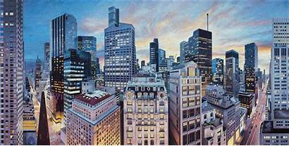 Cityscape Painting Walsh Nathan Photorealistic Paintings Urban