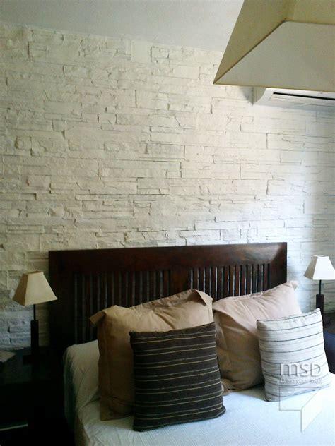 diseno del dormitorio de pared  piedra blanca ventas