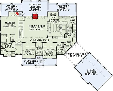 Six Bedroom House Plans by Six Bedroom House Plan With Style 60651nd