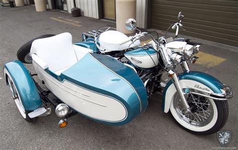 harley davidson side car motorcycle detail northwest