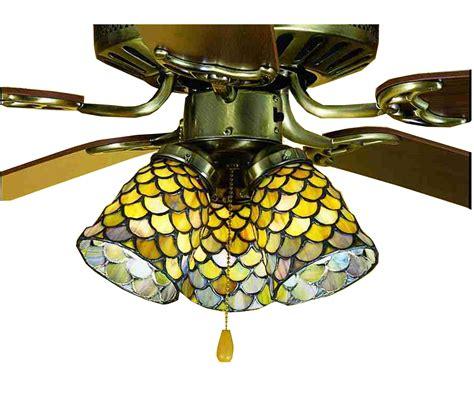 fan light shades meyda 27470 fishscale fan light shade