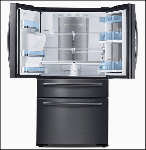 wide counter depth stainless steel refrigerator design innovation