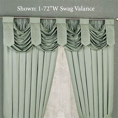 Swag Curtain Valance Shower Double Celadon Evermore