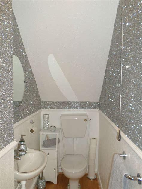 large chunky glitter flake fabric wallpaper black gold