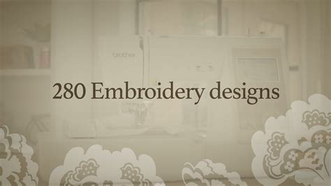brother se features embroidery designs youtube
