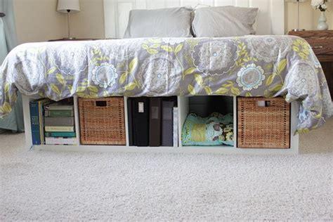 Platform Bed With Storage Ikea by 25 Ikea Kallax Or Expedit Shelf Hacks Hative