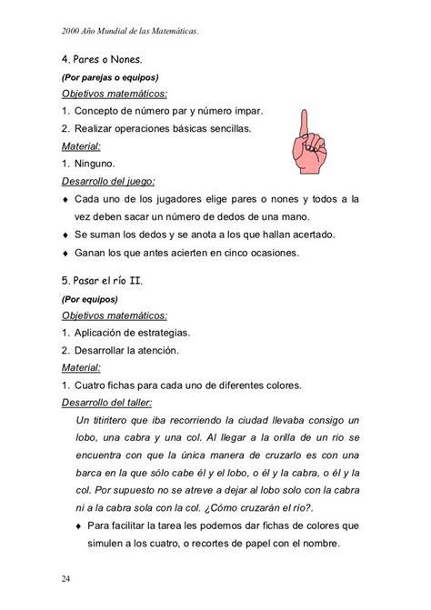 Temario conocimientos pedagógicos de la especialidad. Juegos matematicos para primaria y secundaria | Juegos ...