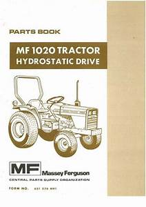 Massey Ferguson Tractor Mf1020 Hydro Parts Manual
