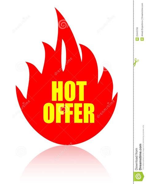 Hot Offer Icon Stock Vector Illustration Of Icon, Offer