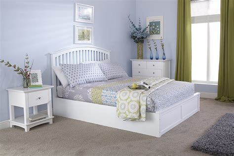 gfw madrid wooden ottoman bed frame  white  beds