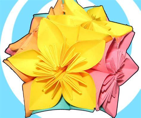 origami kusudama flower ball