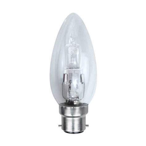 dimmable energy saving halogen candle bulb 28w bc b22d