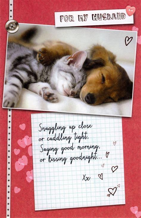 husband cat dog valentines day card cute