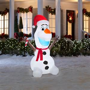 6 feet olaf frozen snowman airblown inflatable
