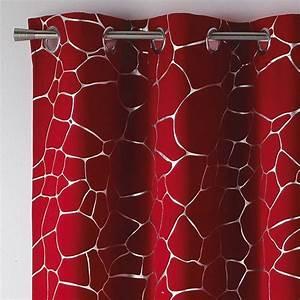 Rideau Gris Et Rouge : rideau occultant rideau et voilage eminza ~ Teatrodelosmanantiales.com Idées de Décoration