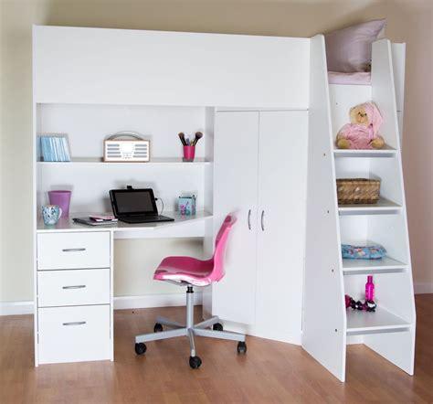 Cabin Beds by Cornwall Highsleeper Cabin Bed Desk Shelves Wardrobe