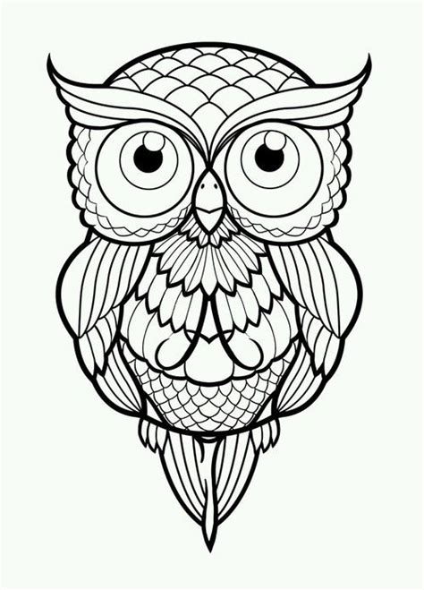 images  coloring owls  pinterest coloring embroidery library  owl coloring
