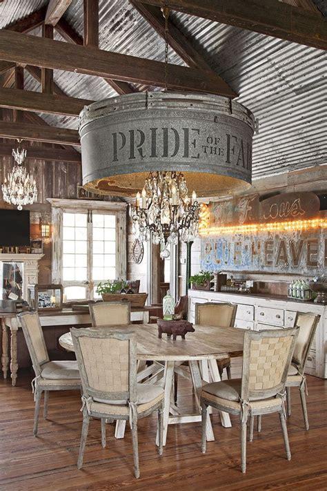 rustic farmhouse    incredible chandelier