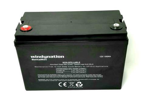 agm batterie 100ah 12v 100ah 100 hour sealed agm cycle agm battery solar rv grid ebay