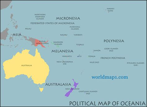map  oceania guide   world