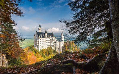wallpapers neuschwanstein castle autumn