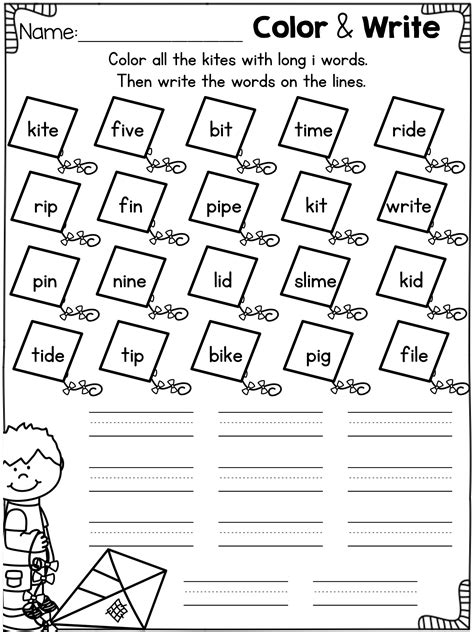 vowel worksheets and activities cvce words bundle