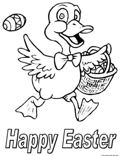happy easter chicken easter eggs coloring pages