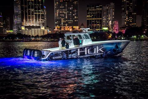 Huk Boat by Tenacity Guide Service And Huk Saltwater Fishing At Its