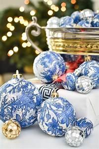 Diy, Dollar, Store, Blue, U0026, White, Chinoiserie, Ornaments