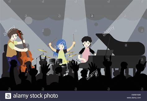 Cartoon Rock Band Stock Photos & Cartoon Rock Band Stock