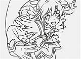 Glitter Force Coloring Pages Doki Popular Comments sketch template