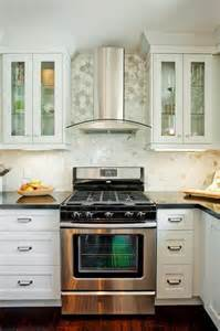stainless steel backsplash kitchen carrara marble hexagon tile contemporary kitchen
